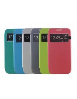 Husa protectie Flip Cover Smart View pentru Samsung Galaxy S4 mini I9190 - gri inchis